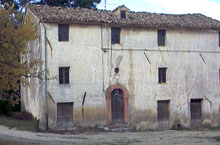 Large farmhouse on a hilly location close to a period Villa.