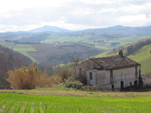 SOLD!!!!Farmhouse to be restored surrounded by large land in a romantic hilly position.