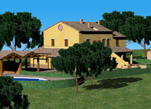 Apartments available in rural complex with swimming pool!