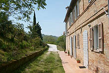 A beautiful restored farmhouse located near Porta del Sole.