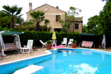 A beautiful farmhouse, recently renovated with luxury finishes and good taste with a large garden and swimming pool.