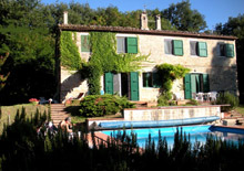 A large stone farmhouse immediately habitable with pool, in a secluded and panoramic position high on the hills, adjacent to 12 hectares of woods.