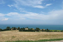 Exclusive plot of land with sea view and direct path to the beach.