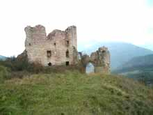 SOLD!!! Medieval Castle in ruins perched on a hill top.