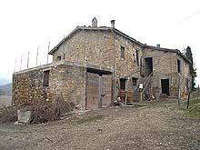 Big farm house, partially in good conditions. Large surrounding land cultivated in olive groves and vine yards.